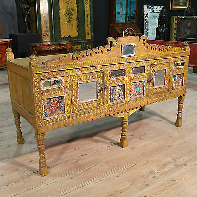 SPECIAL FURNITURE INDIA PAINTED TWO PANELS DRAWERS PERIOD FIRST '900 (L 179 cm)