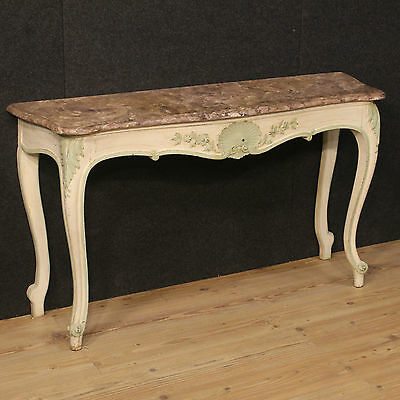 Console Lacquered And Painted Furniture With Level Imitation Marble France