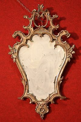 GRANDE MIRROR CARVED GOLDEN TO MECCA (SILVER) VENICE FIRST '900 (H 89 cm)