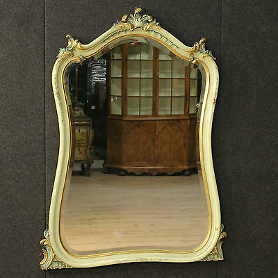 Mirror Venetian Lacquered Golden Painted Furniture Mirror Italy Venice '900