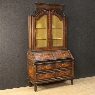 Trumeau lombardo furniture inlaid antique style louis XVI showcase fore 900 XX