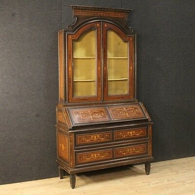 Trumeau writing desk table furniture inlaid antique style louis XVI cabinet 900