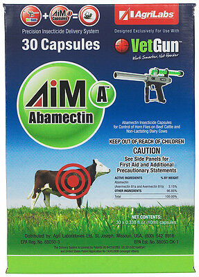 AgriLabs Aim-A Vetcaps (Abamectin) for Vetgun 30 ct