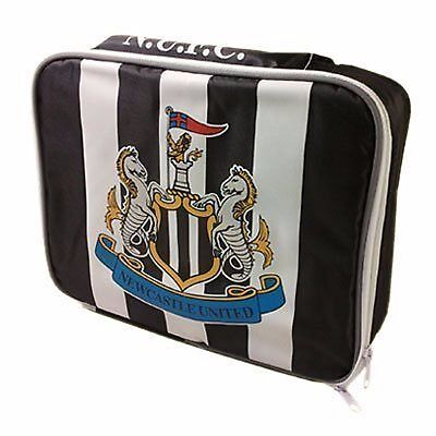 Football Newcastle United United Soft Insulated Cooler Lunch Bag Box Black White