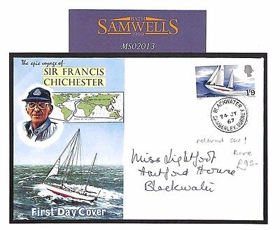 MS2013 1967 GB MARITIME Francis Chichester FDC *BLACKWATER* Relevant CDS RARE