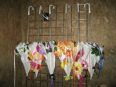 Job Lot 6 Embellished Parasols THEATRE GARDEN PARTY Festival SHOP RESELL
