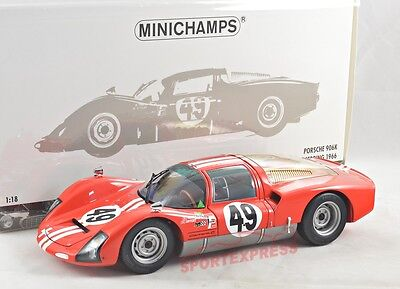 NEW 1/18 Minichamps 100666149 Porsche 906K, 12hrs Sebering 1966, #49, 300pcs
