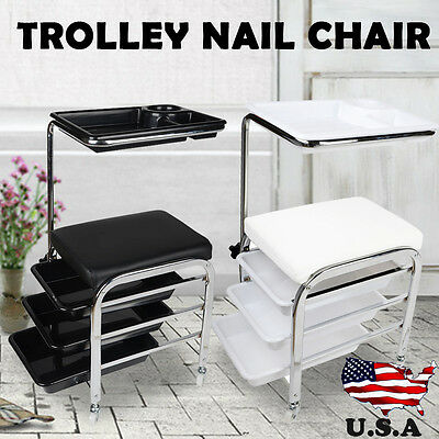 New Pedicure TROLLEY Chair Tray compartment Storage Foot Rest Salon Spa Unit