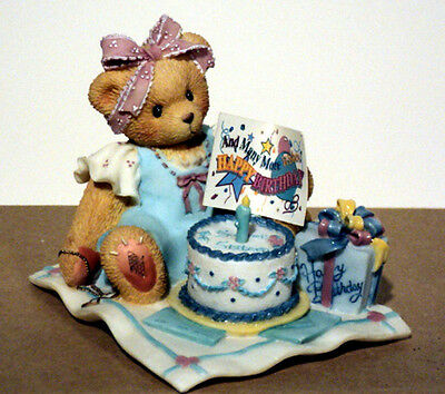 "Cherished Teddies Birthday ""Sixteen Candles & Many More Wishes"" 302643 MIB COA"