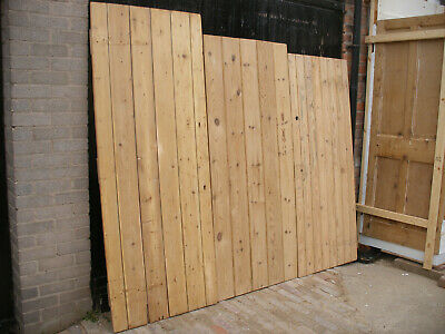 Reclaimed Victorian cottage / plank / ledge stripped pine doors.  (12 available)