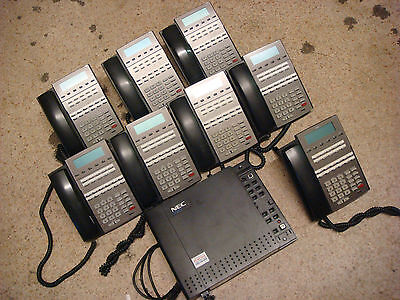Nec Dsx 22B 22 Button Office Phone Lot Of 8 Nec Dsx 40 Key Telephone System