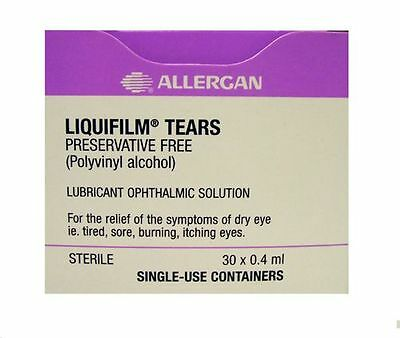 Liquifilm Tears Preservative-Free 0.4Ml, 30 Vials To Sooth Dry, Sore Eyes