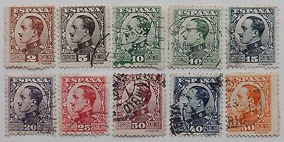 1930 Spain, King Alfonso X111, used stamps