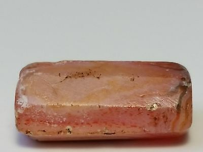 Ancient Rare Faceted Carnelian Patinized Agate Eye Bead