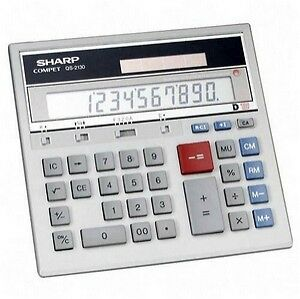 New Sharp Qs-2130 12 Digit Commercial Display  Calculator Dual Power 1St Cls S&h