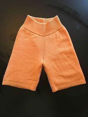 sloomb wool board shorts diaper cover orange size large