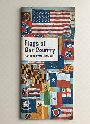 1962 Flags of Our Country National State Historic vtg US History Humble Oil Co