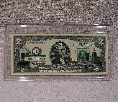 Arkansas  $2 Two Dollar Bill - Colorized State Landmark - Uncirculated Authentic