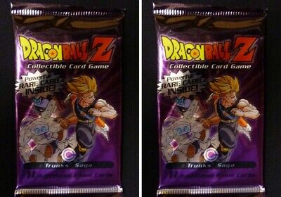Dragonball Z Trunks Saga Unlimited Score CCG 3 Booster Packs Lot from 2001