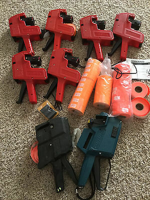 USED 6 Celamark MX-5500 Price Tag Gun plus free gift labels replacement ink