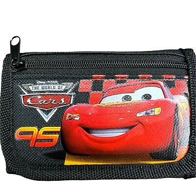 Disney Cars Mc Queen Children boy's Tri Fold Wallet Color Black