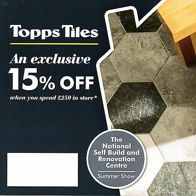 TOPPS TILES : 15% OFF with £250 spend until 19 June 2017 Discount Voucher Coupon