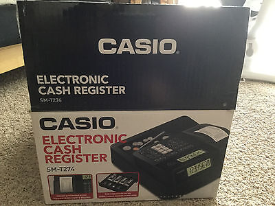 USED CASIO Electronic Cash Register SM-T274 no coin tray free Thermal papers