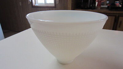 Vintage Milk Glass Waffle Torchiere / Diffuser, 8 in. Top & 2 1/4 in. Fitter
