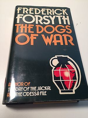 THE DOGS OF WAR Frederick Forsyth SIGNED TRUE 1ST EDITION - HIGH GRADE nr!