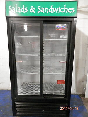 Turbo Air Glass 2 Door Display Beverage Refrigerator