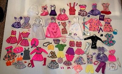 Huge Barbie Doll Clothes Shoes Accessories Lot 80's And 90's Purple Label