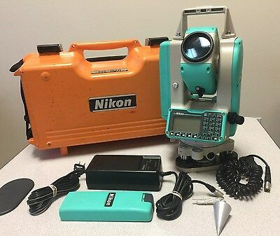 Nikon DTM-352 Total Station with Case, (2) Batteries, Charger, Data cable