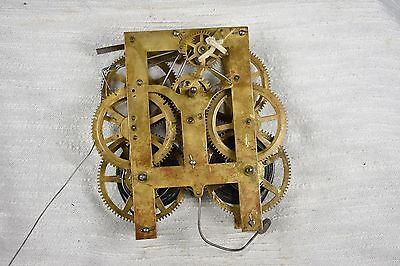 Antique New Haven Jerome 8 Day Time Strike Long Drop Clock Movement Parts
