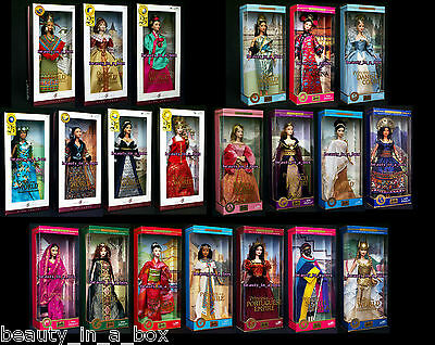 Princess Dolls of the World India French Court Incas Nile Greece Barbie Lot 21