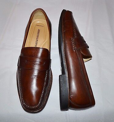 Johnston&Murphy Men's Perfect Brown Leather Penny Loafers Shoes sz.  10.5 D/M