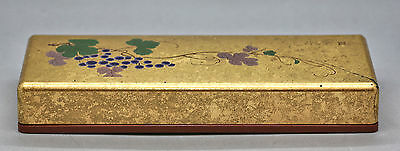 Vintage Lovely Large Japanese Hand Painted Lacquer Box Signed Excellent Quality