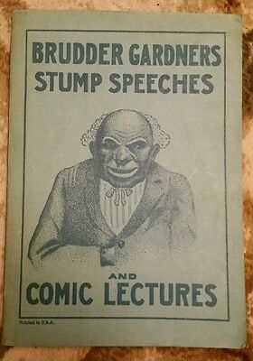 Brudder Gardners Stump Speeches and Comic Lectures