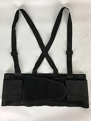"Elastic Back Support Belt Black Suspenders Black 8"" Heavy Duty CLC Adult Size XL"