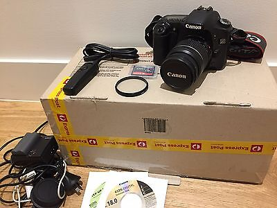Canon EOS 30D Digital SLR Camera 28-80mm zoom Lens, flash card, remote timer