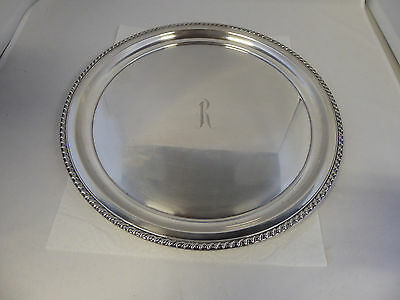 Large Wallace Sterling Silver Serving Tray Initial R