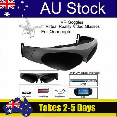 VR Goggles Virtual Reality Video Glasses With AV Interface 2D Earphone For Drone