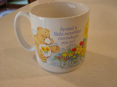 Care Bears Coffee Mug American Greetings Corp. Spread Sunshine 1984