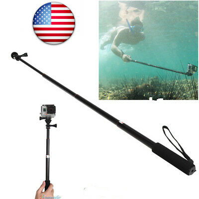 US Waterproof Monopod Tripod Selfie Stick Pole Handheld for GoPro Hero 4 3+3 2 1