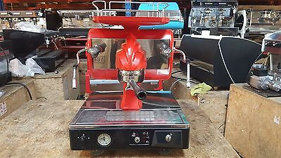 Coffee Machine Espresso 1 Group Astoria Sibilla Used Red No Mazzer Grinder