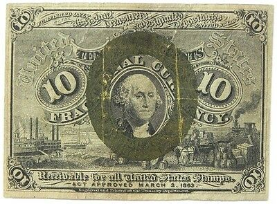 Us Ten Cent Fractional Currency 2Nd Issue 1863