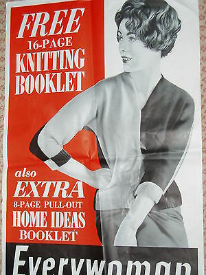 """Original"" Advert poster....EVERYWOMAN magazine....1950s..Large size"