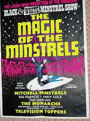 """""""Original"""" poster.. BLACK and WHITE MINSTEL SHOW........1970s..Large size"""
