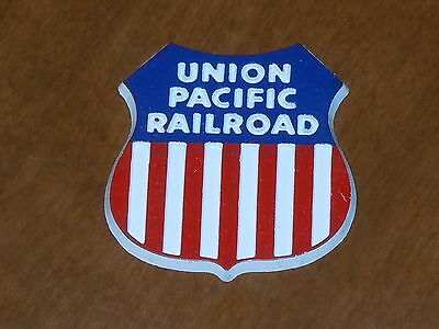 UNION PACIFIC RAILROAD Vintage Old RUBBER FRIGE MAGNET Standings Board 1970's
