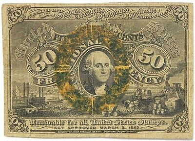 Us Fifty Cent Fractional Currency 2Nd Issue 1863