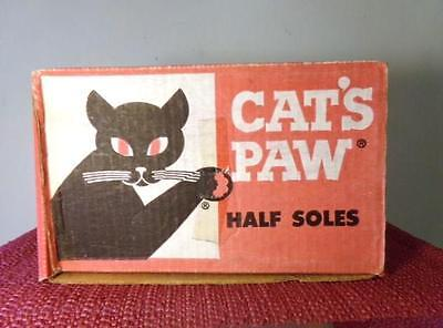 Vintage Advertising Box - Cats Paw Soles -  Black Cat Art Deco Stylized Cat G
